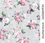 seamless flower vector pattern... | Shutterstock .eps vector #160684934