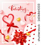 happy valentines day festive... | Shutterstock .eps vector #1606864333
