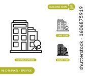 building icons set vector...