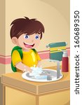 a vector illustration of cute... | Shutterstock .eps vector #160689350