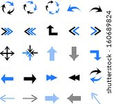 arrows icons set | Shutterstock .eps vector #160689824