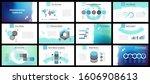 business presentation templates.... | Shutterstock .eps vector #1606908613