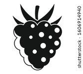 delicious raspberry icon.... | Shutterstock .eps vector #1606914940
