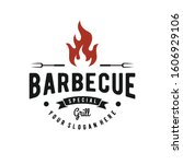 barbecue   grill logo...   Shutterstock .eps vector #1606929106