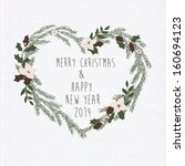 merry christmas and happy new... | Shutterstock .eps vector #160694123