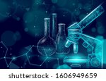 low poly science chemical glass ... | Shutterstock .eps vector #1606949659