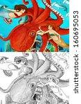 the ocean and the mermaids  ... | Shutterstock . vector #160695053
