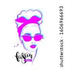glitch woman fashion portrait....   Shutterstock .eps vector #1606966693