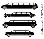 limousines silhouettes vector... | Shutterstock .eps vector #160699646