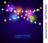 colourful glowing christmas... | Shutterstock .eps vector #160702364