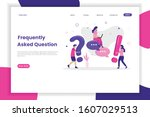 frequently asked questions...   Shutterstock .eps vector #1607029513