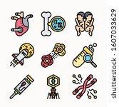 bioengineering color icons pack ...   Shutterstock .eps vector #1607033629
