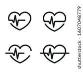 hearth pulse icon vector design