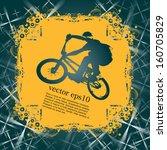 cycling. vector illustration | Shutterstock .eps vector #160705829