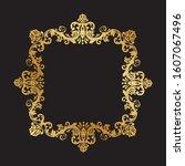 golden scrolls frame  vector...   Shutterstock .eps vector #1607067496
