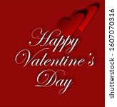 greeting card with valentine's... | Shutterstock . vector #1607070316
