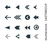 arrow icon set. web arrow... | Shutterstock . vector #1607080219