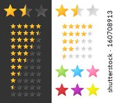 rating stars set. vector | Shutterstock .eps vector #160708913