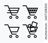 shopping cart icon  sign ... | Shutterstock .eps vector #1607108203