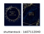 luxury wedding invitation.... | Shutterstock .eps vector #1607112040