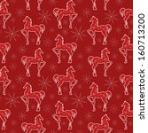 cute pattern with horses for... | Shutterstock .eps vector #160713200