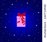 new year's gift in a pink box... | Shutterstock .eps vector #160713440