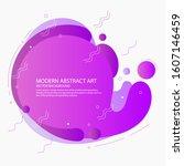 modern liquid gradient color... | Shutterstock .eps vector #1607146459