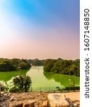 Small photo of View Of Hauz Khas Lake or Royal Tank, is an affluent neighbourhood in South Delhi, its heart being the historic Hauz Khas Complex.