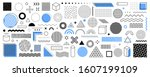 set of 100 geometric shapes.... | Shutterstock .eps vector #1607199109