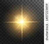 light effect glow.  yellow... | Shutterstock .eps vector #1607223859