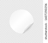round paper sticker template... | Shutterstock .eps vector #1607250256