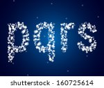snow letters over snow...   Shutterstock .eps vector #160725614