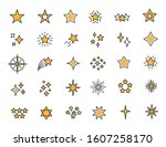 set of linear stars icons.... | Shutterstock .eps vector #1607258170