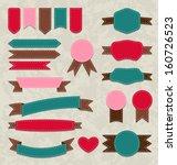 illustration set retro ribbons  ... | Shutterstock . vector #160726523