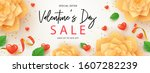 happy valentine's day banner.... | Shutterstock .eps vector #1607282239