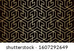 abstract geometric pattern with ... | Shutterstock .eps vector #1607292649