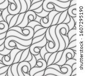 seamless linear pattern with... | Shutterstock .eps vector #1607295190