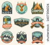 set of hunting club and camping ... | Shutterstock .eps vector #1607306026