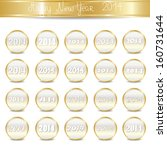 2014 number icons set  ... | Shutterstock .eps vector #160731644