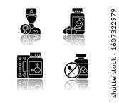 gynecology drop shadow black... | Shutterstock .eps vector #1607322979
