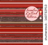 striped knit seamless pattern... | Shutterstock .eps vector #160732913