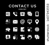 set icons of contact us | Shutterstock .eps vector #1607343553