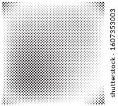 halftone circles  halftone dot... | Shutterstock .eps vector #1607353003