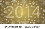 happy new year 2014 from stars...   Shutterstock .eps vector #160735484