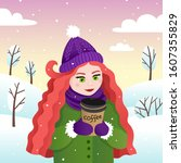 vector illustration with a... | Shutterstock .eps vector #1607355829