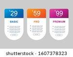 simple design set of pricing...