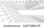 abstract architecture... | Shutterstock . vector #1607388139