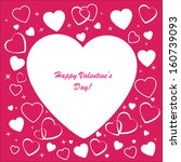 valentine's background with... | Shutterstock . vector #160739093