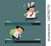 rabbit business man faster than ... | Shutterstock .eps vector #160740770