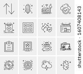 16 universal business icons... | Shutterstock .eps vector #1607408143